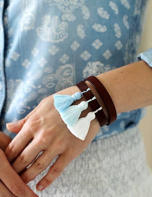 Náramky - Kožený náramok BOHEMIAN BROWN - 8260933_