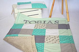 Textil - Detská MINKY deka s menom na želanie♥♥♥ - 8261488_