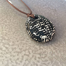 Náhrdelníky - Betónový náhrdelník justStone black - 8261231_