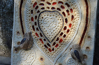 Obrázky - Obraz ptáčci a srdce - 8260500_