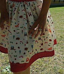 Sukne - Suknička s lesnými zvieratkami. - 8260072_