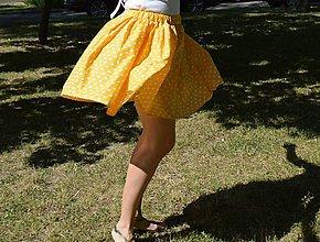 Sukne - Suknička - slniečkové poskakovanie - 8260076_