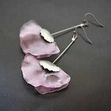 Náušnice - Náušnice vlčie maky ružové - 8262354_