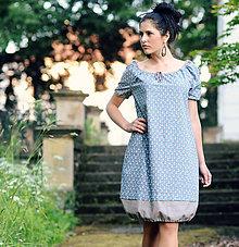 Šaty - Modrobéžové - 8262470_