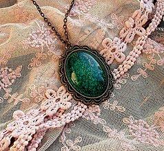 Náhrdelníky - Smaragdový náhrdelník - 8262848_