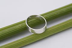 - Zásnubný prsteň / obrúčka obdĺžniková - široká, skosená - 8262959_