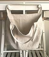 Nákupné tašky - Nákupná taška z hrubého ľanového plátna  - 8261644_