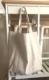 - Nákupná taška z hrubého ľanového plátna  - 8261645_