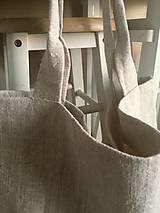 Nákupné tašky - Nákupná taška z hrubého ľanového plátna  - 8261647_