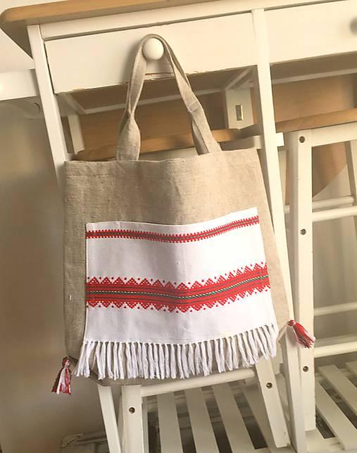 Ľanová nákupná taška   Abreadbag - SAShE.sk - Handmade Nákupné tašky b59f65a2ecf