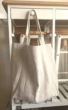 Nákupné tašky - Nákupná taška z hrubého ľanového plátna - 8261645_