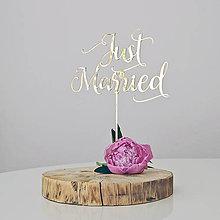 Darčeky pre svadobčanov - Just married - 8261623_