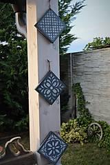 Pomôcky - Drevené dlaždice v modrom - 8260142_