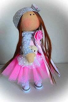 Bábiky - Bábika v ružovom - 8266251_