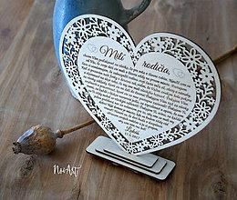 Darčeky pre svadobčanov - Srdiečko Poďakovanie rodičom 27 - 8265019_