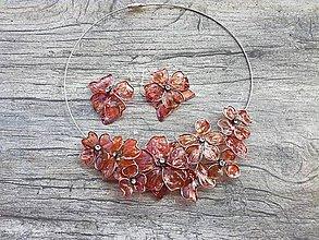 Sady šperkov - ľadové kvety, náhrdelník a náušnice - 8263187_