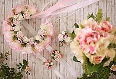 Ozdoby do vlasov - Kvetinová svadobná parta - 8263006_