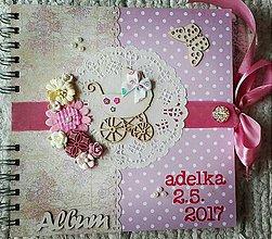 Papiernictvo - Detský ružový fotoalbum pre dievčatko :) - 8266125_