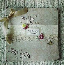 Papiernictvo - Veľký svadobný jemný svetložltý fotoalbum - 8266341_