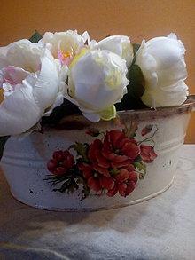Nádoby - Plechový kvetináč - 8263597_
