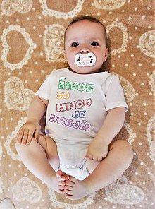 Detské oblečenie - Detské body - život so mnou je krajší. - 8265494_