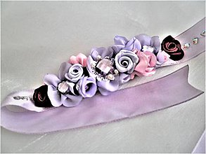 Opasky - Kvetinový opasok - 8265427_