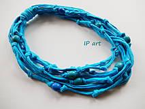 Náhrdelníky - Tyrkysový - náhrdelník - 8263401_