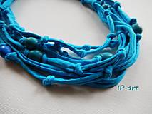 Náhrdelníky - Tyrkysový - náhrdelník - 8263402_