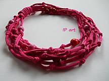 Náhrdelníky - Růžový - náhrdelník - 8263415_