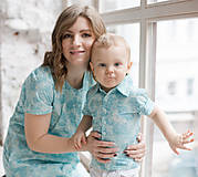 """Šaty - Púzdrové tyrkysové šaty so vzorom """"Sovy"""" - 8264597_"""