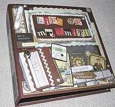 Papiernictvo - Luxusný fotoalbum k narodeninám - životnému jubileu (kronika) - 8264562_
