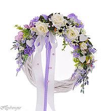 Dekorácie - Svadobný venček na dvere - 8265452_