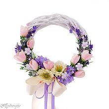 Dekorácie - Venček na dvere s levanduľou - 8266336_
