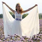 Šaty - Svadobné šaty s elastickým živôtikom a kruhovou tylovou sukňou - 8263748_