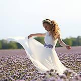 - Svadobné šaty s elastickým živôtikom a kruhovou tylovou sukňou  - 8263749_