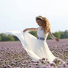 Šaty - Svadobné šaty s elastickým živôtikom a kruhovou tylovou sukňou - 8263749_