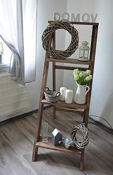 Nábytok - rebrík/stojan na kvety, dekorácie 2 - 8265715_