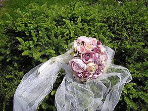 """Kytice pre nevestu - svadobná kytica:""""vintage"""" - 8266009_"""