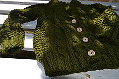 Detské oblečenie - Svetrík Army - 8267592_