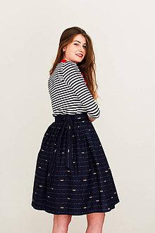 Sukne - Zavinovací sukně Mořské vlnky - 8266799_