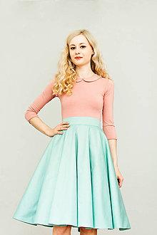 Sukne - Mátová kolová sukně - 8267056_