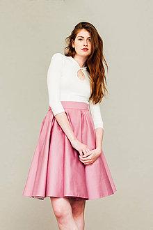 Sukne - Růžová kolová sukně - 8267083_