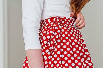 Sukne - Zavinovací sukně Puntíky větší - 8267519_