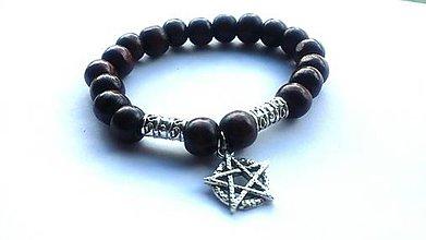 Náramky - Náramok Pentagram - 8266562_