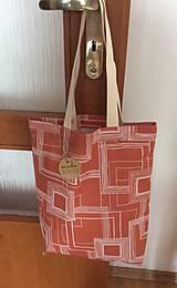 nákupná taška tehlová