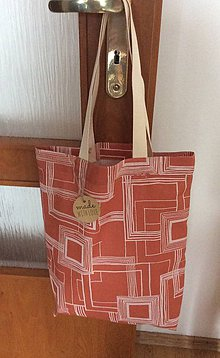 Nákupné tašky - nákupná taška tehlová - 8267753_