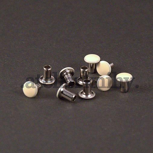 Jednodielny hlavičkový nit slonová kosť 10ks