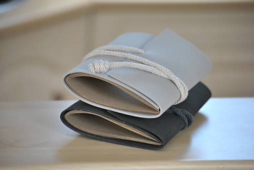 Papiernictvo - Moosgummi zápisník SOFT (tmavosivý) - 8266872_