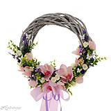 Dekorácie - Venček na dvere s orchideou - 8266725_