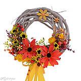 Dekorácie - Pestrý letný venček na dvere - 8266795_
